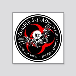 "Zombie Squad 3 Ring Patch R Square Sticker 3"" x 3"""